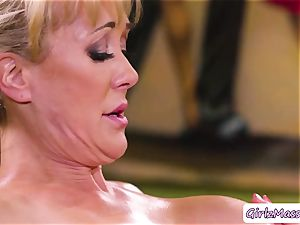 masseur Jill Kassidy rubdown Brandi enjoy bod and gobbles her humid twat