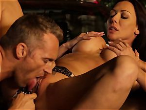 Last chance Sn two Rachel Starr smashed over car fetish mask