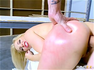 Smoking warm blond Ashley Fires fucked in her butthole