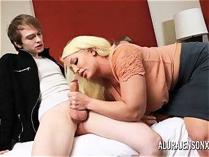 hotwife 3 way with phat orb porn industry star Alura Jenson