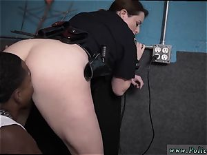 platinum-blonde unexperienced doggy moist video grips police penetrating a deadbeat dad.