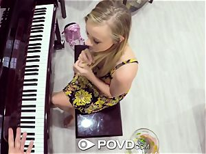 POVD blondie Bailey Brooke drills piano lesson lecturer