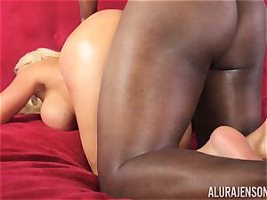 horny Alura Jenson dark-hued man rod inhaling sweetie