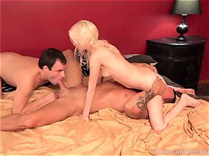 cheating observes as his wifey has fuck-a-thon with her lover. He wants too