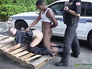 super-steamy dame cop gets ravaged and furry cougar shower I will catch any perp with a fat dark-hued