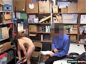 big-chested Jade Amber gets her tight vagina pummeled by bulky officers immense dick