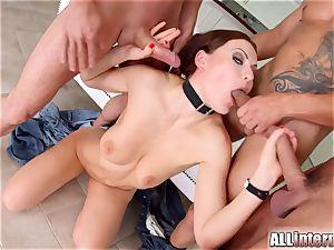 Tina Kay anal invasion gangbang internal ejaculation on All internal part 1