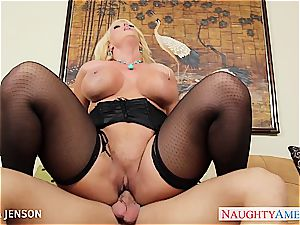 big-chested milf in tights Alura Jenson ride trunk