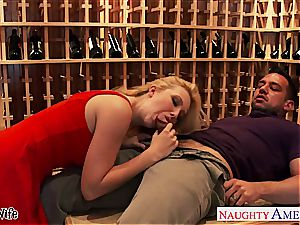 blond wife Samantha Rone fuck and jump meatpipe