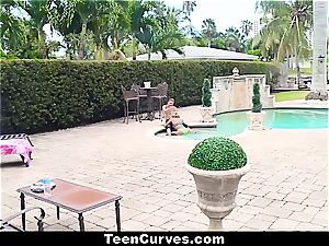 super hot Latina Chanel porked by the pool