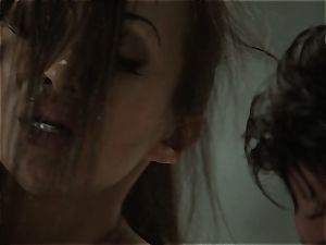 Katsuni arches over for the soap for a reason