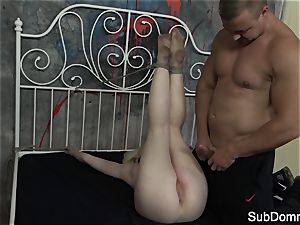 lil' euro creampied by her rough male domination