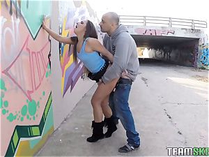 Smoking red-hot teen Amirah Adara pulverized in public