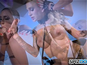 Monster with monster man-meat plumbing deep Sarah Jessie and Jessica Jaymes
