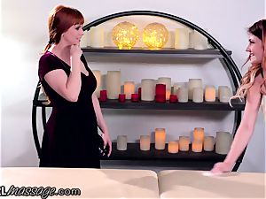 sapphic teen masseuse Adria Rae