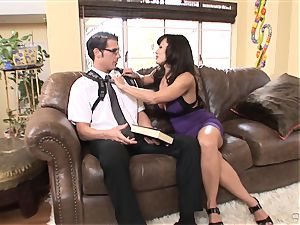 ample breasted stunner Lisa Ann bags herself a toyboy