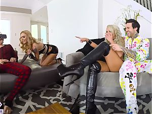 2 huge-chested Blondes porks You From Virtual Reality