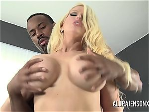 ample knocker porn industry star Alura Jenson luvs phat ebony knob
