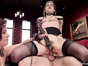huge-titted milf instructed youthfull maid pounding