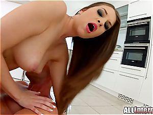 Angelina Brill receives a filthy internal cumshot