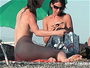 A thrilling nude beach hidden cam spy cam movie