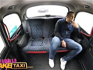 chick faux taxi Tourist creampies and gets a humid vulva