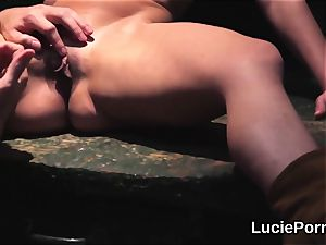 inexperienced lesbo nymphs get their edible fuckboxes licked and smashed