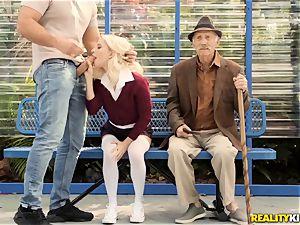 granddad getting a eye full