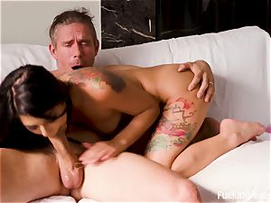 FuckingAwesome - The Neighbor's daughter-in-law Gina Valentina