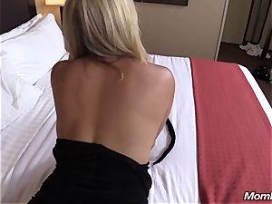 steaming ash-blonde milf internal ejaculation delectation