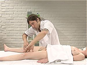 Pretty Marie McCray gets outward and inner massage