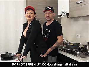 casting ALLA ITALIANA Mature ginger-haired butt pulverized deep