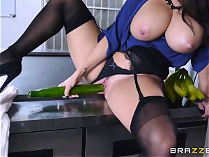 Kitchen inspector Ava Addams takes a chefs fuckpole deep