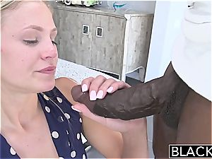 BLACKED Preppy towheaded nymph loves thick ebony manstick