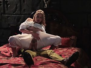Keira Nicole takes a man sausage battering in this luxurious parody
