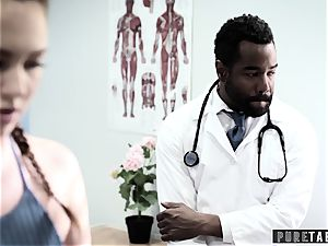 Maddy O'Reilly Exploited into bbc ass fucking at Doctors check-up