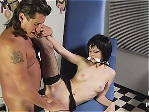 pallid Latina thoroughly plumbed