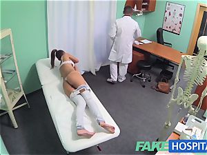 FakeHospital steaming dark-haired Patient returns longing knob