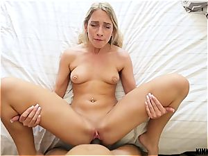 highly nailable Khloe Kapri teases her step step-brother till he finishes off