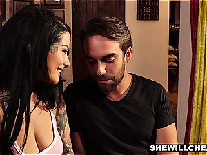 inked wifey Cheats On elder husband With super-fucking-hot cock