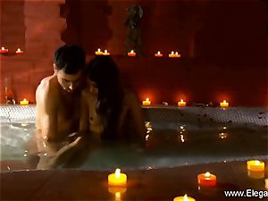 glamour couple In The Indian Sauna