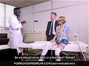 porno ACADEMIE - anal invasion three way with blonde schoolgirl