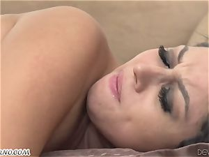 young mexican biotch Stephanie Adams takes a massive cock in her booty