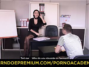 porno ACADEMIE - Lusty secretary assfuck 3some bang-out
