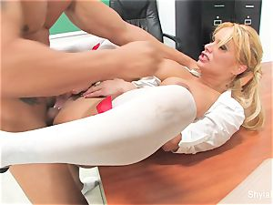 Bad schoolgirl Shyla gets pounded by her lecturer