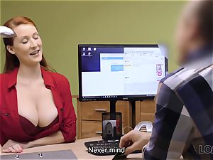 LOAN4K. big-boobed red-haired pays with hookup for development of her biz