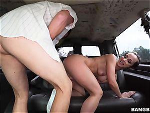 Jada Stevens torn up on the Bangbus