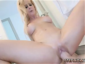 mummies gang-fuck and intercourse gal Cherie Deville hates that her new step playfellow has lengthy