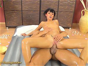 lubricious rubdown sex with Gina Devine