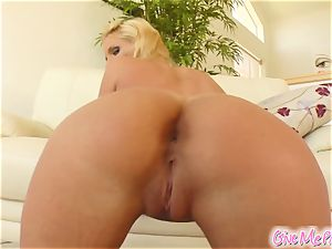 Phoenix's puss gets tasty from her monster fake penis
